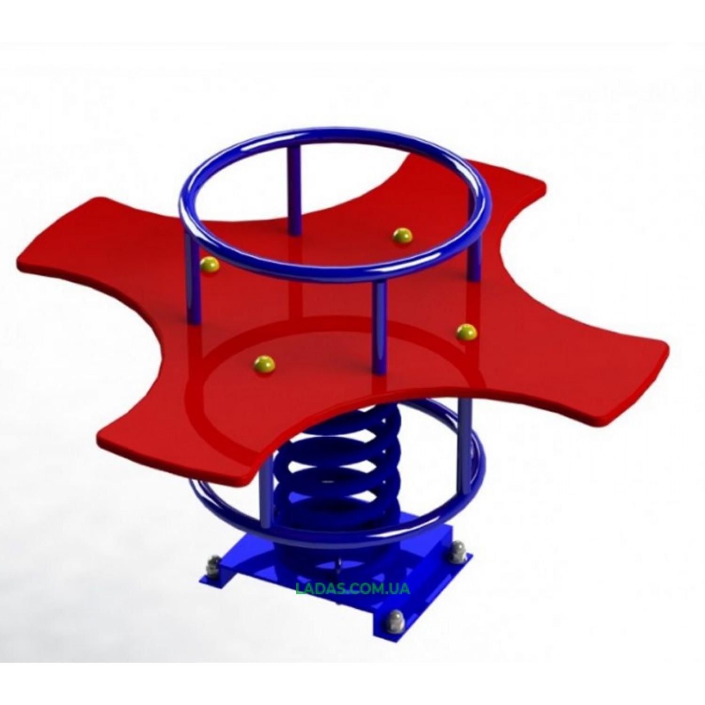 Качалка-балансир на пружине 4-местная (под бетонирование)