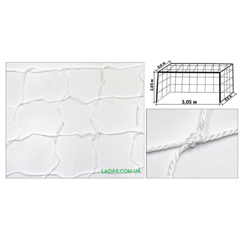 Сетка на ворота футзальная, гандбольная тренировочная (2шт) Эконом UR (PP 2,5мм, ячейка 12см)