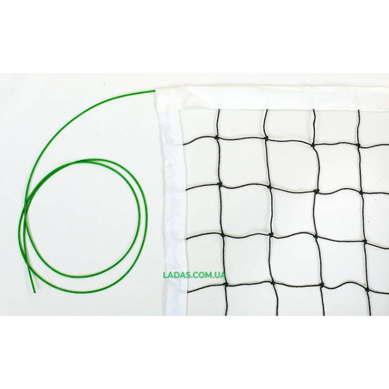 Сетка для волейбола (PE 2,8мм, р-р 9,5x1м, с метал. тросом)