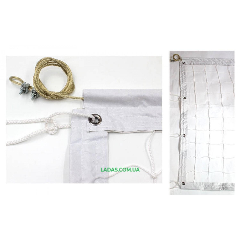 Сетка для волейбола Эконом10 Норма UR (PP 2,5мм, р-р 9,5x1м, метал. трос)