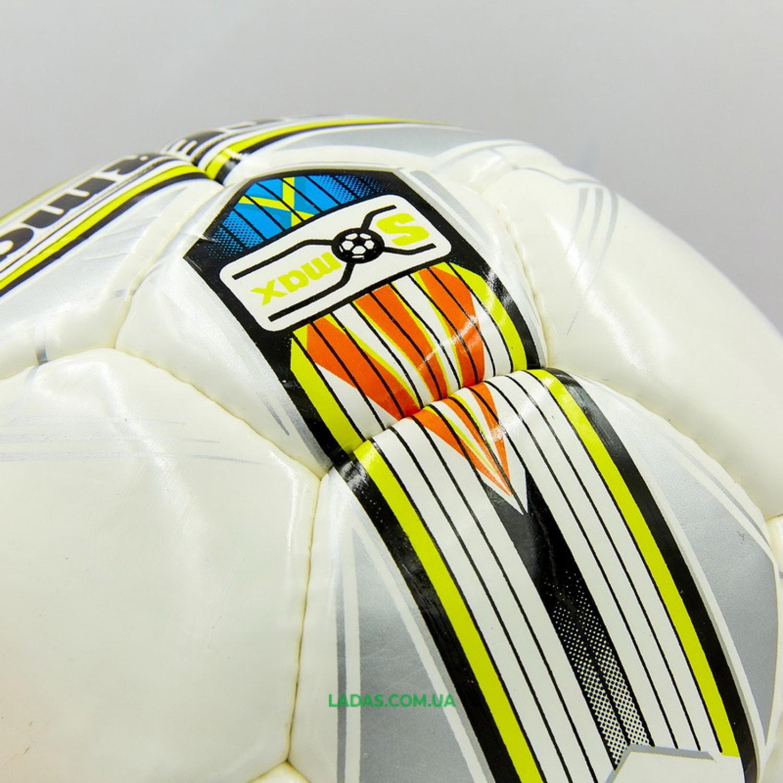 Мяч футбольный профессиональный №5 SOCCERMAX FIFA (PU, белый)