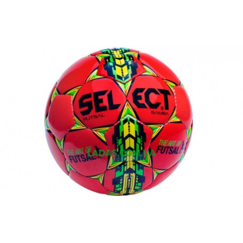 Мяч футзальный №4 SELECT FUTSAL SAMBA (красный)