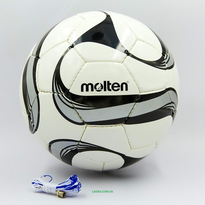 Мяч футбольный №5 PU MOLTEN (сшит вручную, черно-белый)