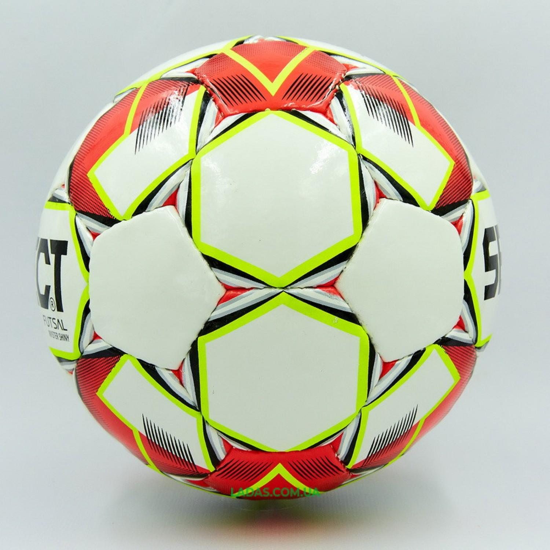 Мяч для футзала №4 ламинированный ST MASTER (красно-белый, сшит вручную)