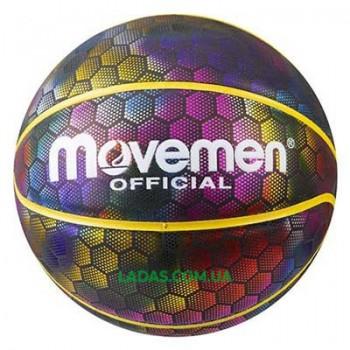 Мяч баскетбольный Movemen №7 light голографическое покрытие