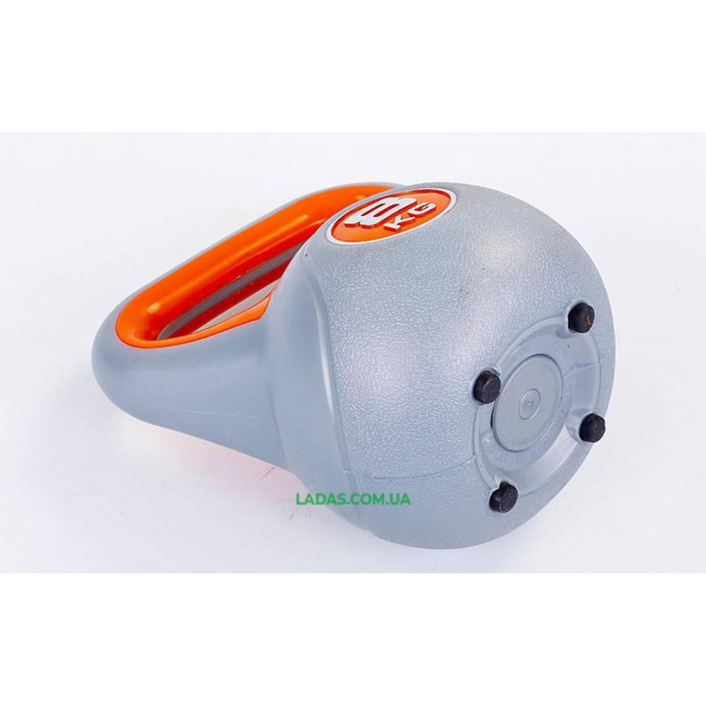 Гиря пластиковая TA-5734- 8 8кг (наполнение цемент)