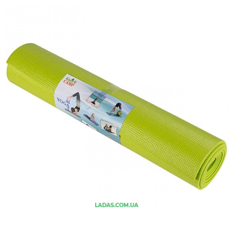 Коврик для фитнеса однослойный GreenCamp (173см*61см*6мм, PVC)