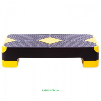 Степ-платформа FI-1573 (PP, р-р 68Lx27Wx10-15Hсм, черный)