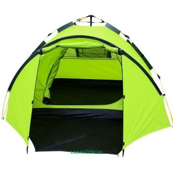 Палатка 4-х местная Mimir MM900, автомат(р-р 300 (210+90) х 230 х 135см.салатовый)