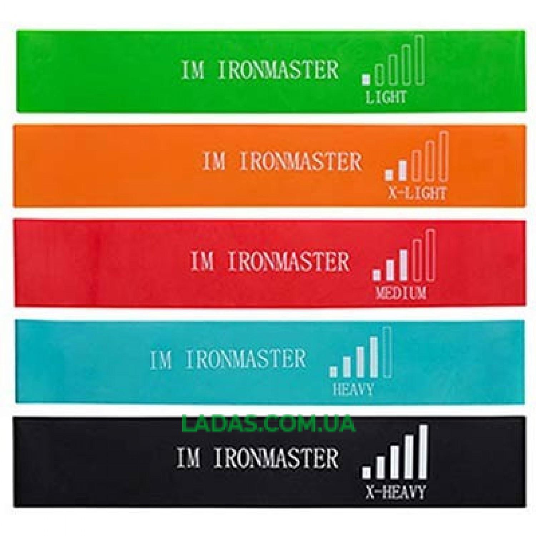Набор лент сопротивления (резинок для фитнеса) IronMaster (5 шт., 600x50мм, XS-XL)