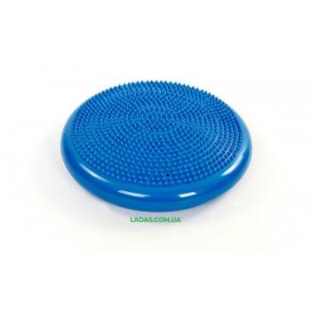 Подушка балансировочная массажная BALANCE CUSHION (PVC, d-34см, 1000гр, синий)