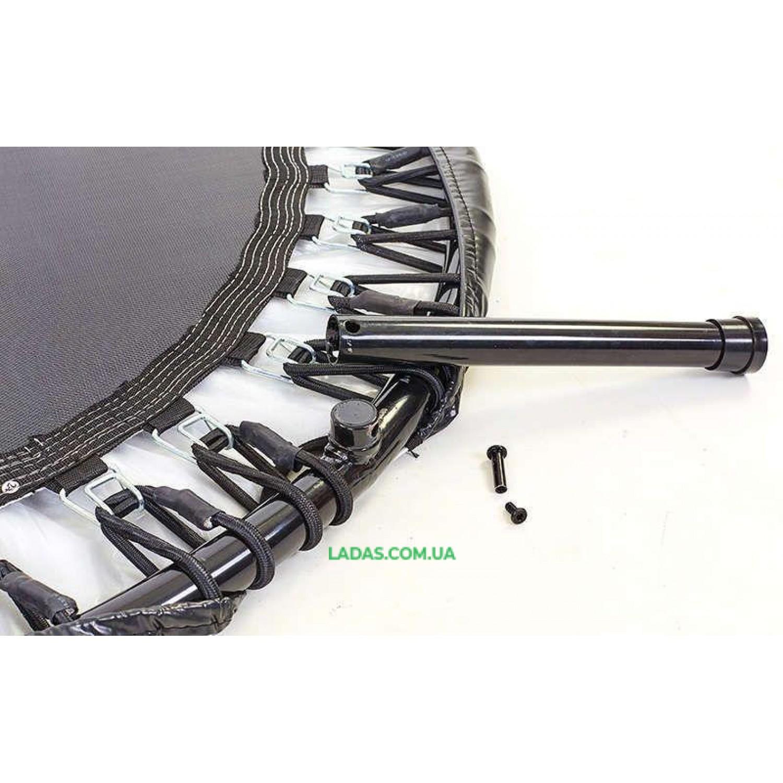 Фитнес-батут с ручкой складной круглый (крепление - эспанд.жгуты,d-120см (48in))