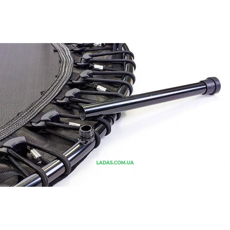 Фитнес-батут с одинарной ручкой круглый 45in (металл, крепление - жгуты,d-114,5см)