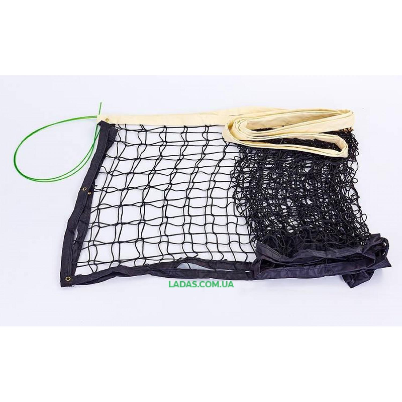 Сетка для волейбола (Poliester 4мм, р-р 9,5x1м, ячейка 10x10см, с металлическим тросом)