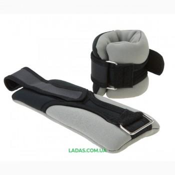 Утяжелители (манжеты) для рук IronMaster (2*1 кг, наполнитель - песок)
