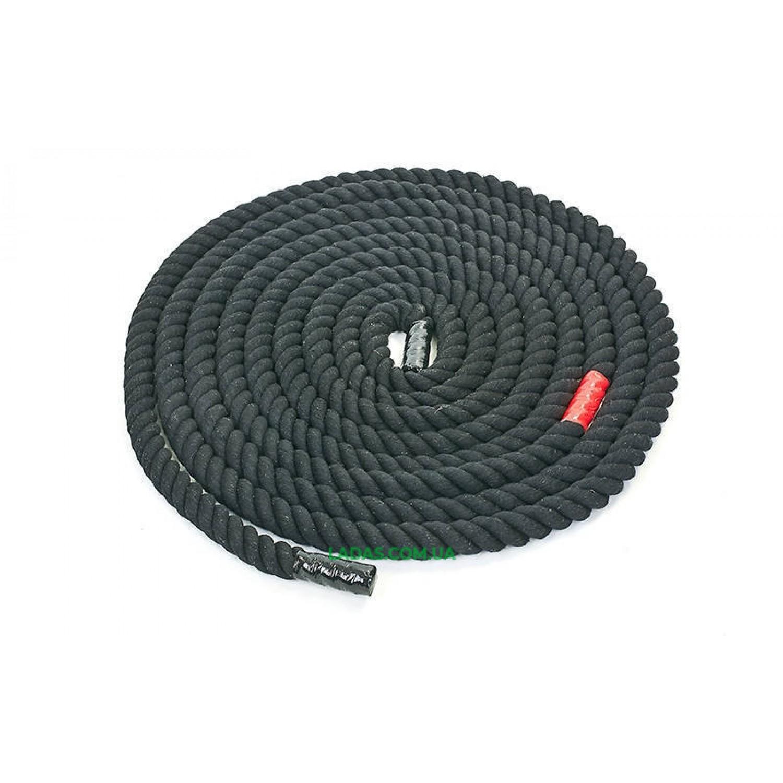 Канат для кроссфита черный COMBAT BATTLE ROPE UR (хлопок, l-9 м, d-2,6 см)