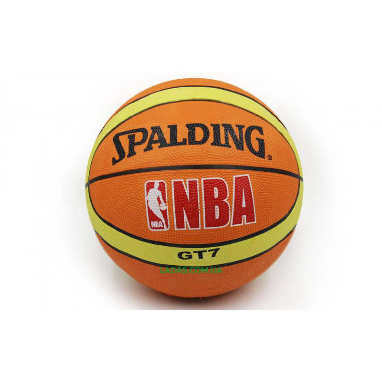 Мяч баскетбольный резиновый №7 Spald