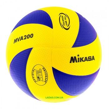 Мяч волейбольный Mikasa MVA200 (PU, №5, клееный)