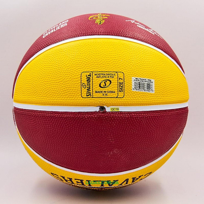Мяч баскетбольный резиновый №7 SPALDING NBA Team CLAVELAND CAVA