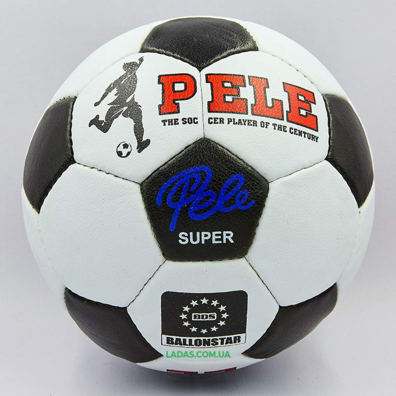 Мяч футбольный №5 PU ламинированный PELE (сшит вручную)