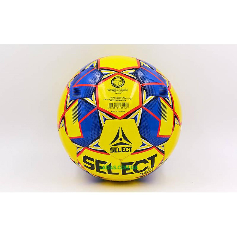 Мяч для футзала №4 ламинированный ST MIMAS (желто-синий, сшит вручную)