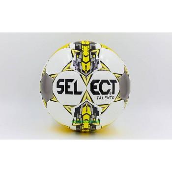Мяч для футзала №4 ламинированный ST TALENTO (бело-желтый, сшит вручную)