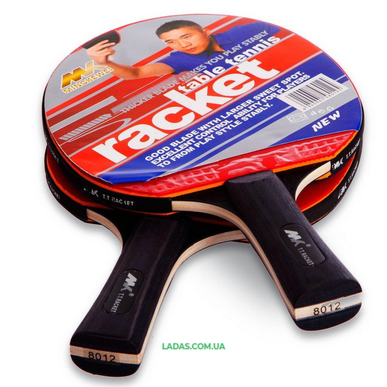 Набор для настольного тенниса 2 ракетки, 3 мяча с чехлом MK MT-8012