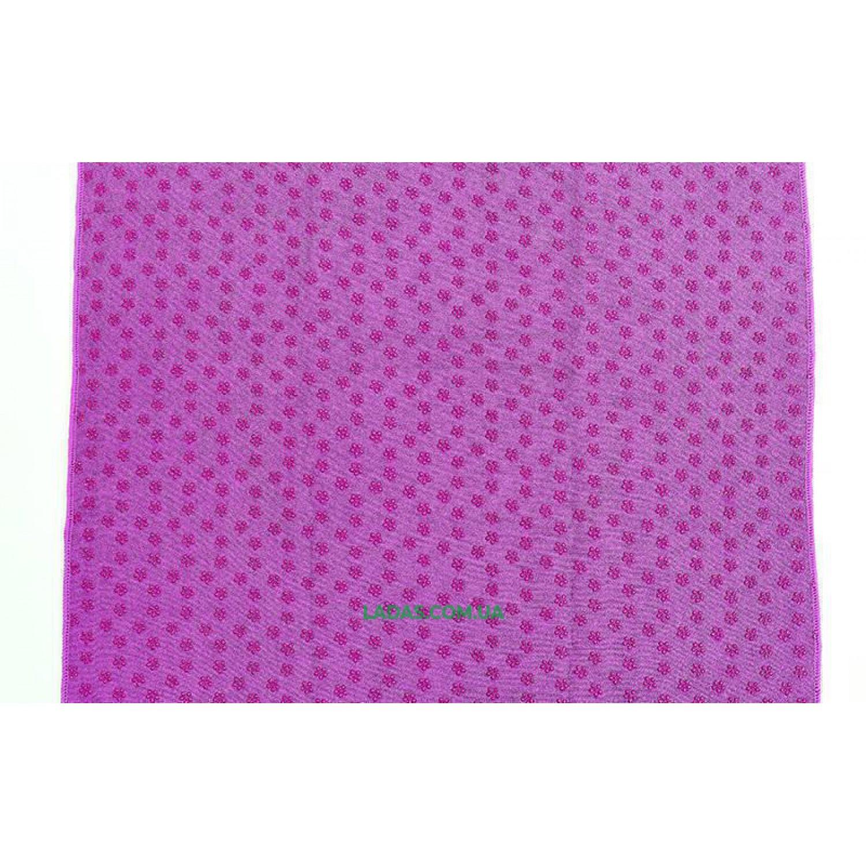 Йога-полотенце (коврик для йоги) (р-р 1,83м x 0,63м, микрофибра+силикон)