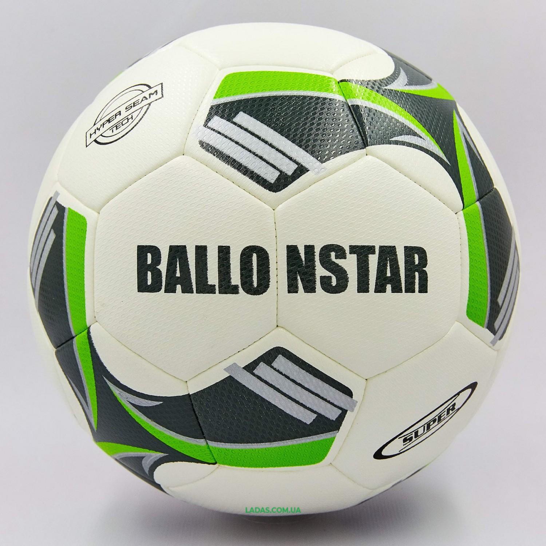 Мяч футбольный №5 PU HYDRO TECHNOLOGY BALLONSTAR FB-0177 цвета в ассортименте (№5, 5 сл., сшит вручную)