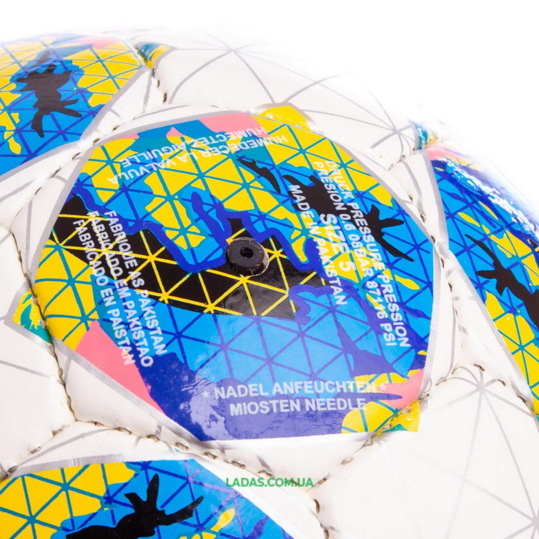 Мяч футбольный №5 PU ламин. FB-0645 (№5, 5 сл., сшит вручную)