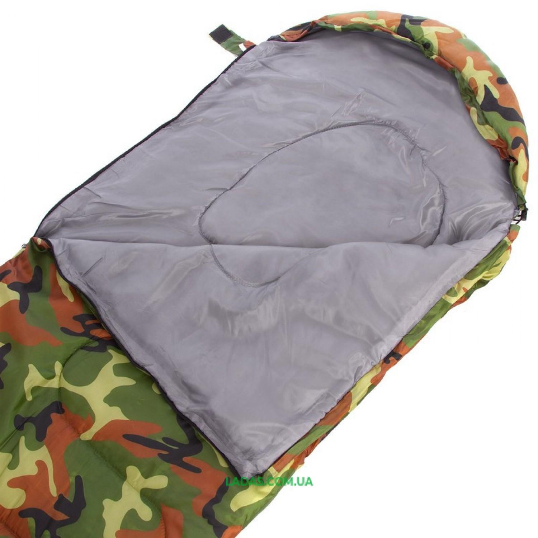 Спальный мешок одеяло с капюшоном камуфляж