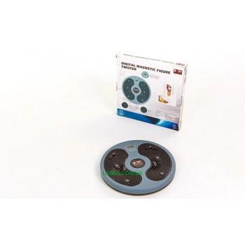 Диск здоровья массажный с магнитами и со счетчиком BODY SCULPTURE (пластик, толщина-3см d-27см)