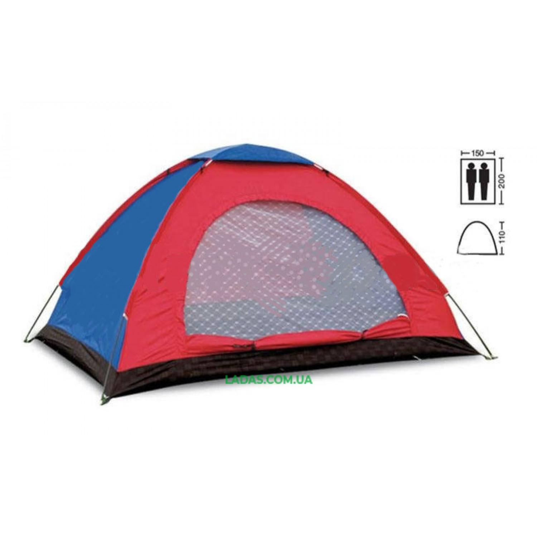 Палатка универсальная 2-х местная (р-р 2х1,5х1,1м)