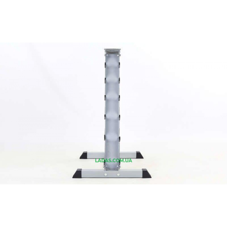 Подставка (горка) для гантелей (6 пар) (металл, р-р 58х65х94см)