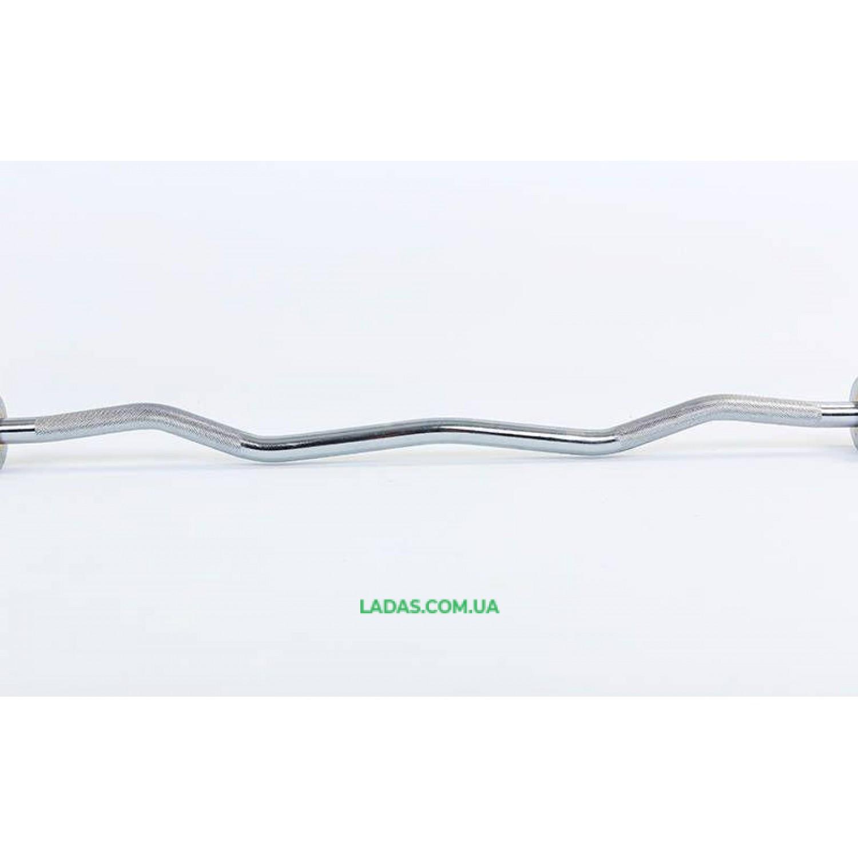Гриф для штанги Олимпийский W-образный с подшипником (1,2м, d-50мм, гр. d-25мм, без замков)
