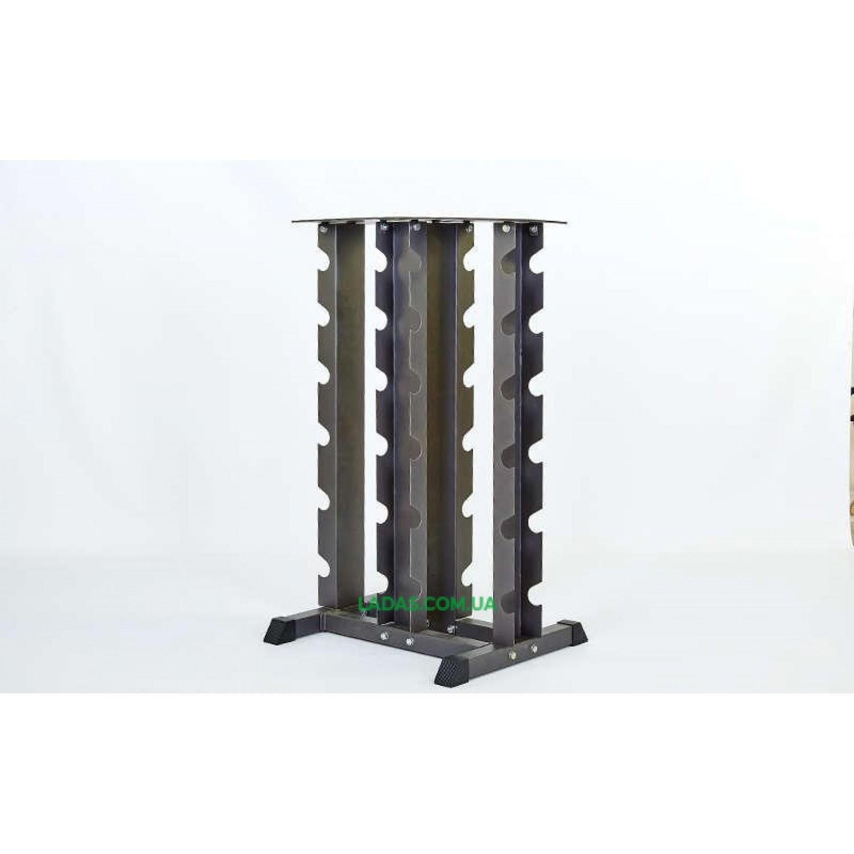 Стойка четырехсторонняя для гантелей (металл, р-р 113х66х58см)