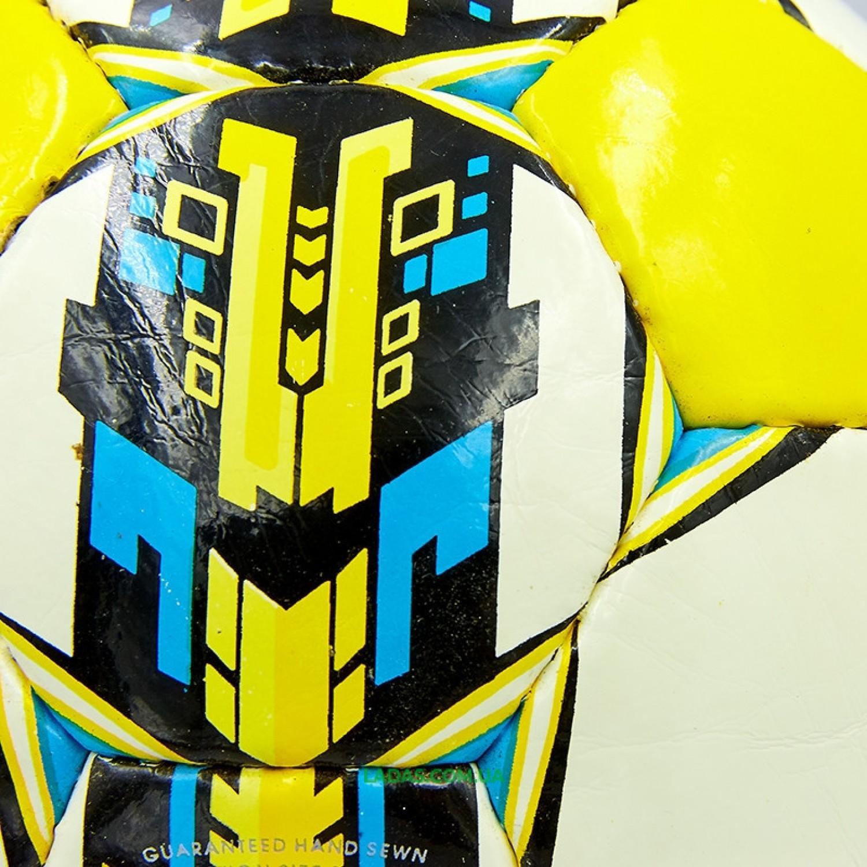 Мяч футбольный №4 PU ламинированный ST TALENTO (бело-желтый-синий, сшит вручную)