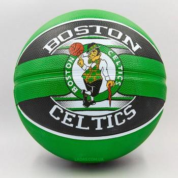 Мяч баскетбольный резиновый №7 SPALDING NBA Team BOSTON CELTIC