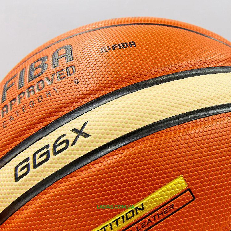 Мяч баскетбольный №6 MOLTEN (PU, бутил, оранжевый)