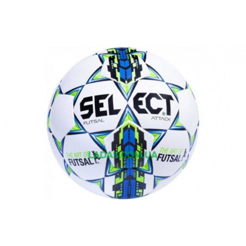 Мяч футзальный №4 SELECT FUTSAL ATTACK (бело-синий)