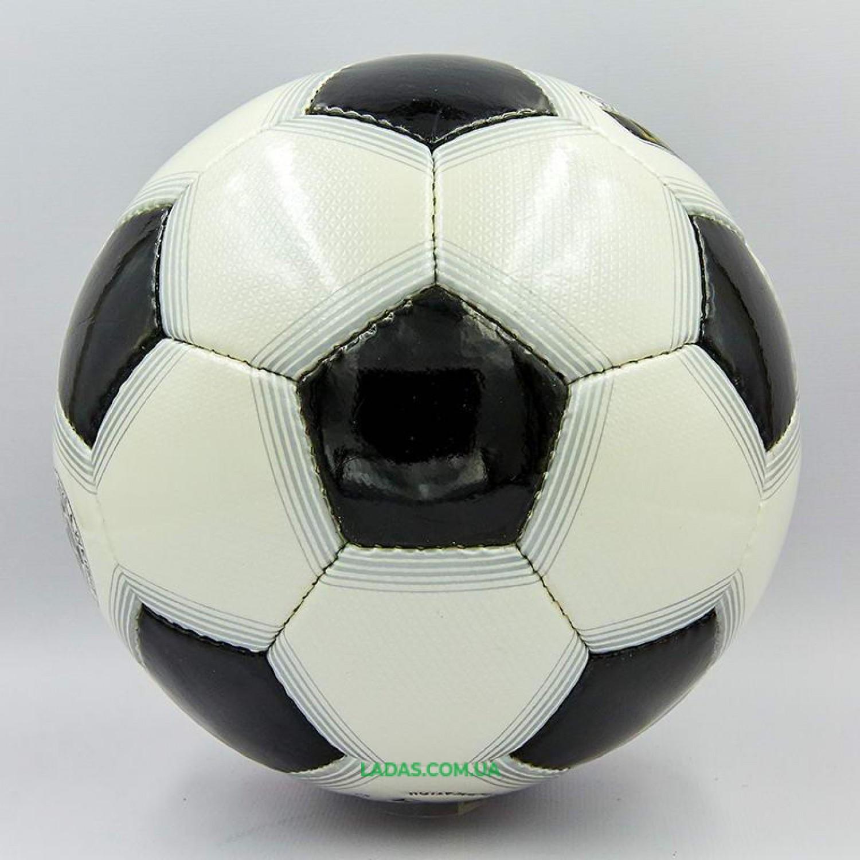 Мяч футбольный №5 PU ламинированный OFFICIAL (бело-черный, сшит вручную)