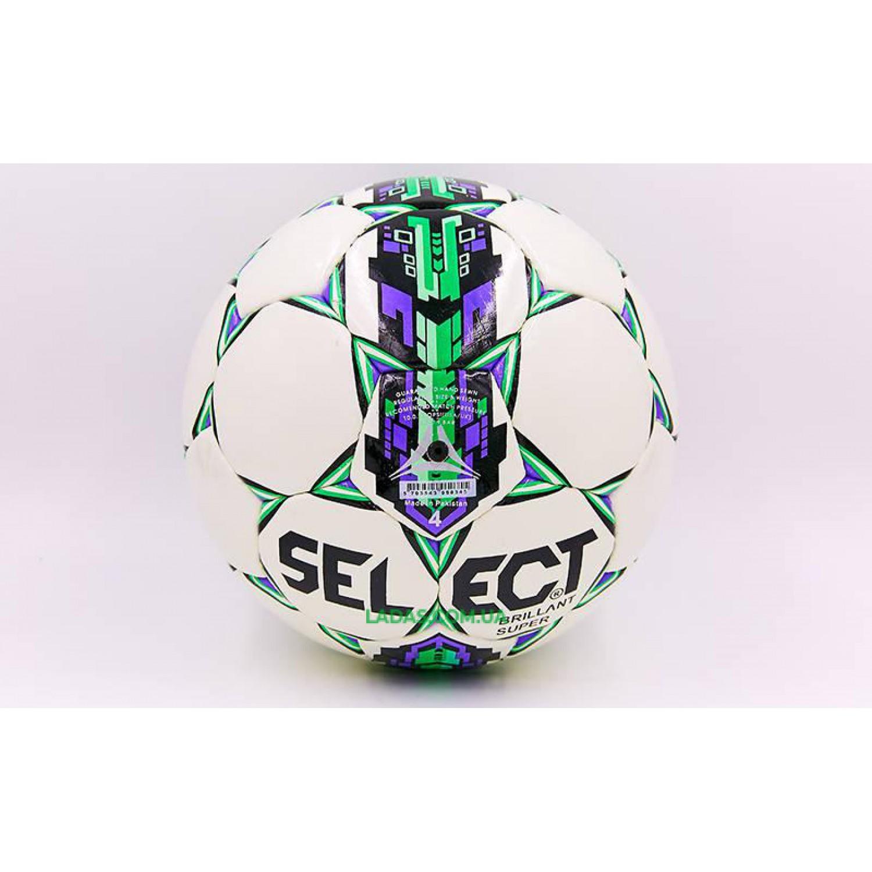 Мяч футбольный №4 PU ламинированный ST BRILLANT SUPER REPLICA (сшит вручную)