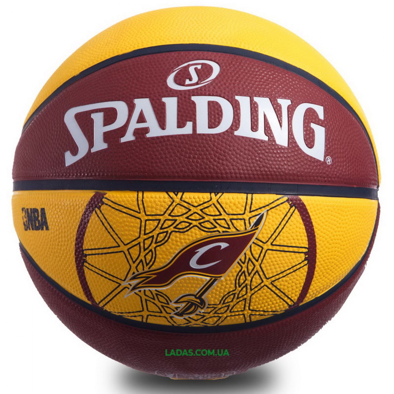 Мяч баскетбольный резиновый №7 SPALDIN 83218Z 2015 NBA TEAM-CAVALIERS