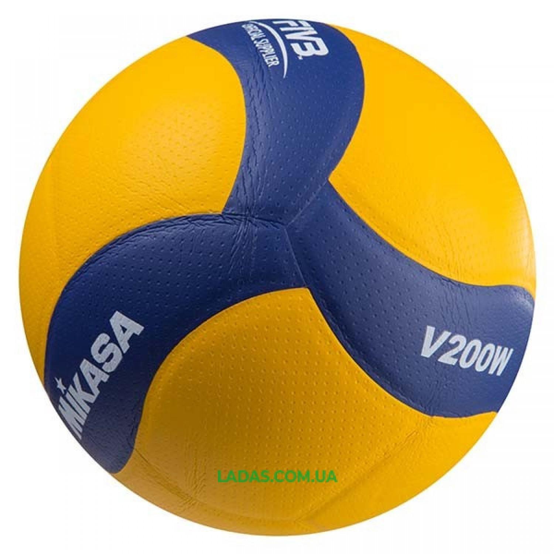 Мяч волейбольный Mikasa V200W (PU, №5, клееный)
