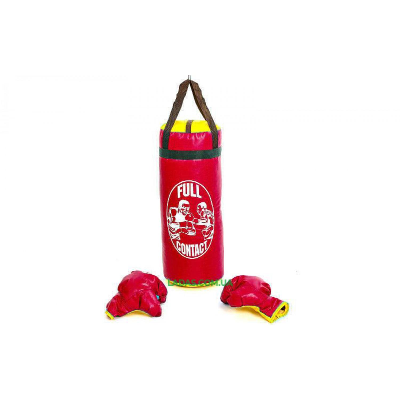 Боксерский набор детский (перчатки+мешок) SP-Planeta BO-4675-L (PVC, размер L, мешок h-52см, d-20см, цвета в а