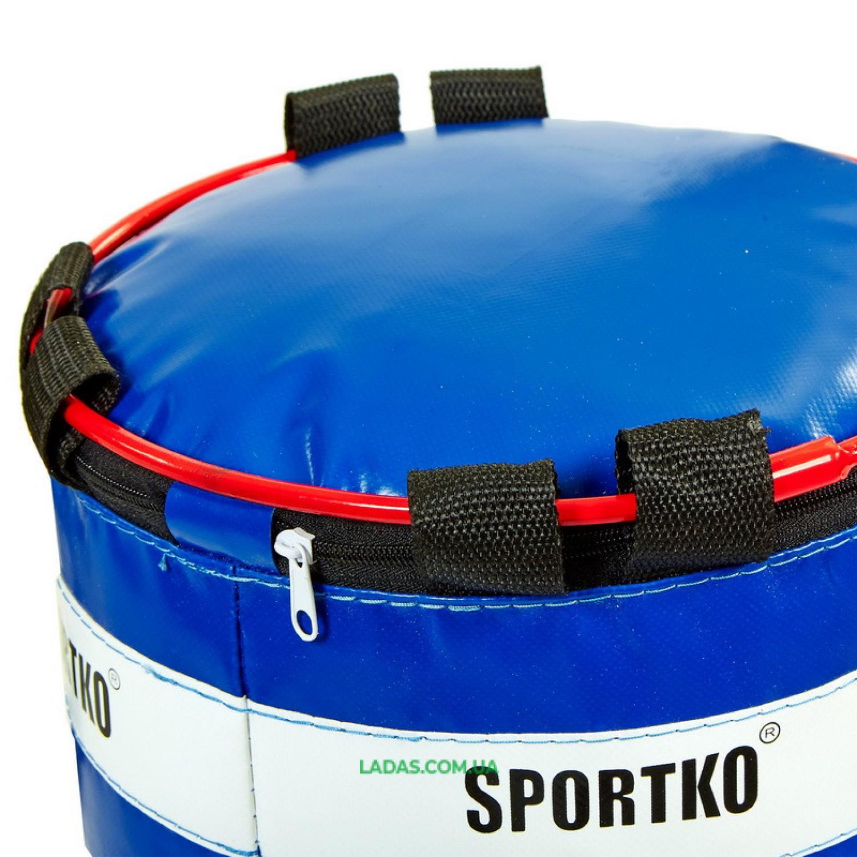 Мешок боксерский Цилиндр с кольцом ПВХ SPORTKO (h-85см, d-32см, вес-20кг)