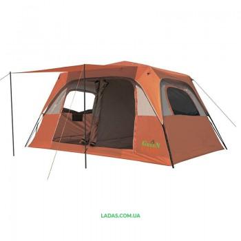 Палатка 6-ти местная GreenCamp GC1610, автомат(р-р 390х 270х 180/210см, оранжевый)