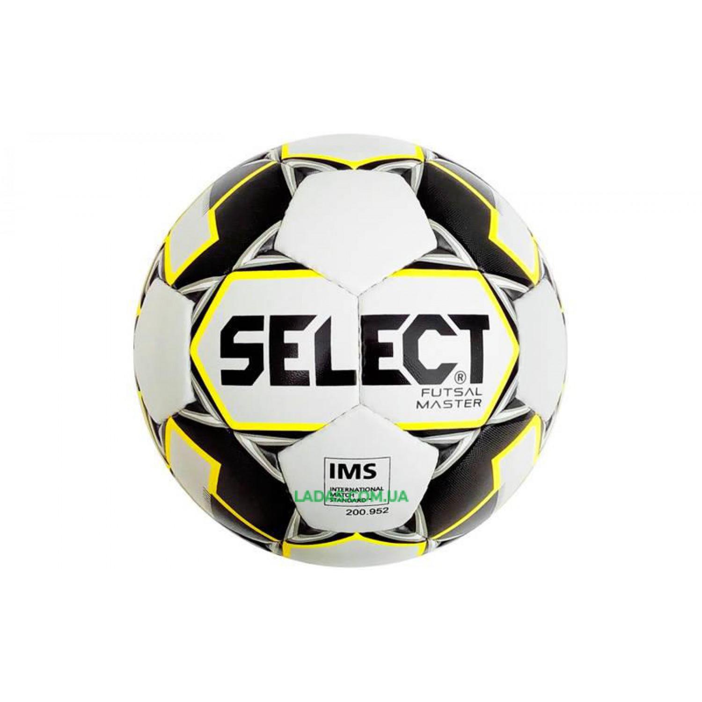 Мяч футзальный №4 SELECT FUTSAL MASTER IMS (FPUS 1800, бело-черный)