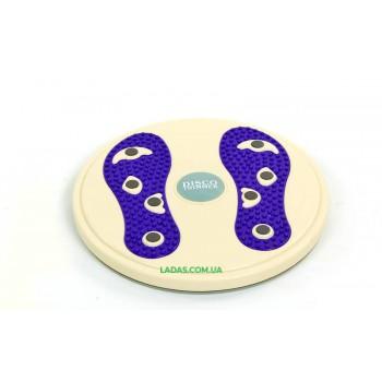 Диск здоровья с магнитами и массажером рефлекторных зон на стопах Грация Pro Supra (пластик d-28см)