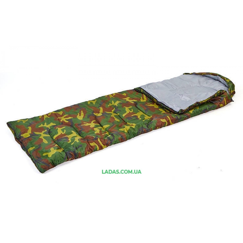 Мешок спальный для туризма (PL,хлопок, 400г на м2,р-р 177+30х75см, t +15 до -5)